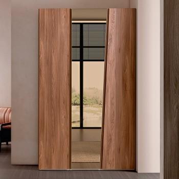 Akademy 3-Door Wardrobe w/Mirror