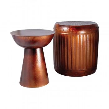 Truffle Table & Barrel Stool