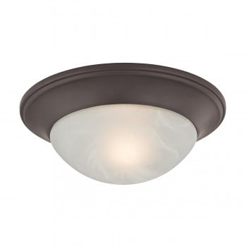 1 Light Flushmount Lamp in Oil Rubbed Bronze
