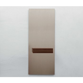 Alicante Bronzed Mirror with Drawer, Canaletto Walnut