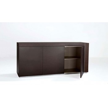 Adan 3-Door Buffet w/Optional Drawer, Wood Veneer