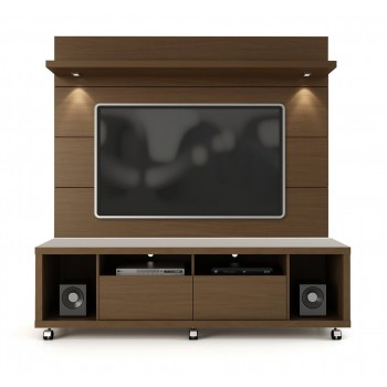 "Cabrini 71"" TV Stand & Panel, Nut Brown"