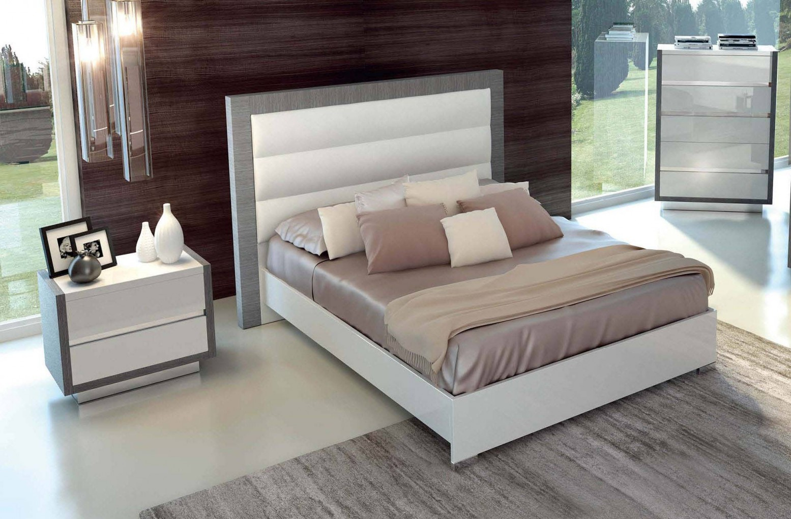Mangano King Size Bed W Wooden Slats Frame Buy Online At Best Price