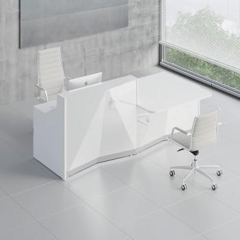 Alpa ALP21L Reception Desk, White