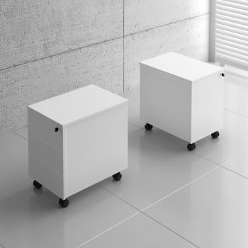 Basic KKT11 Mobile Pedestal w/3 Drawers, White