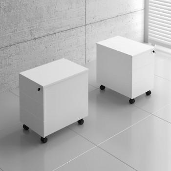 Basic KKT11 Mobile Pedestal w/3 Drawers, White