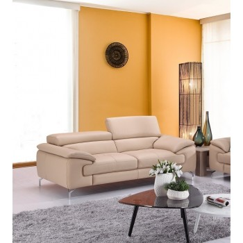 A973 Italian Leather Sofa, Peanut by J&M Furniture
