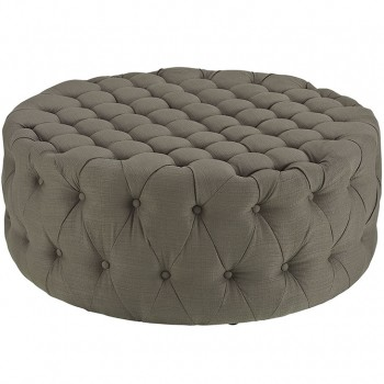 Amour Fabric Ottoman, Granite by Modway