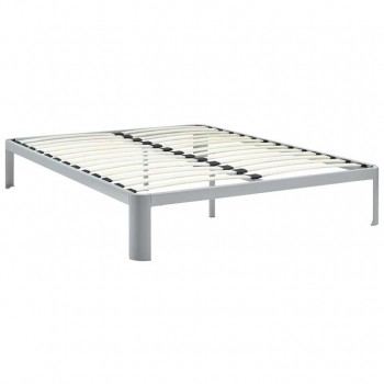 Corinne King Bed Frame, Gray by Modway
