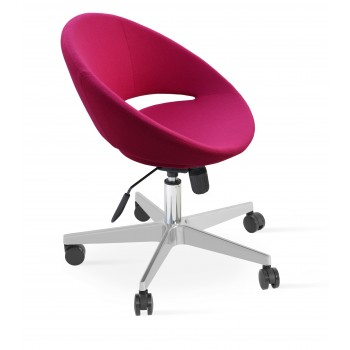 Crescent Office Chair, Base A2, Pink Wool by SohoConcept Furniture