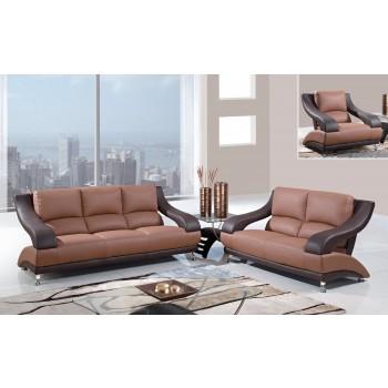 U982 3-Piece Living Room Set, Brown