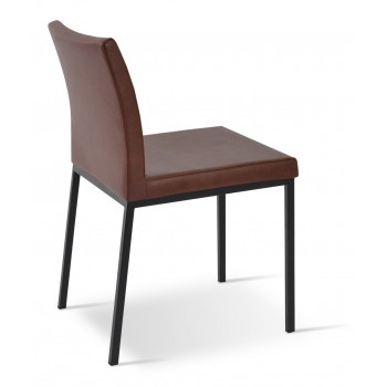 Aria Dininng Chair, Black Powder Base, Chestnut PPM by SohoConcept Furniture