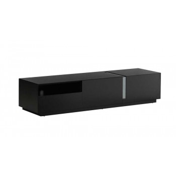 027 TV Stand, Black High Gloss