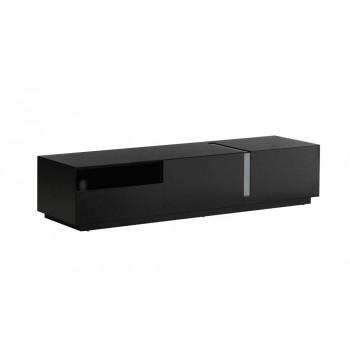 027 TV Stand, Black High Gloss