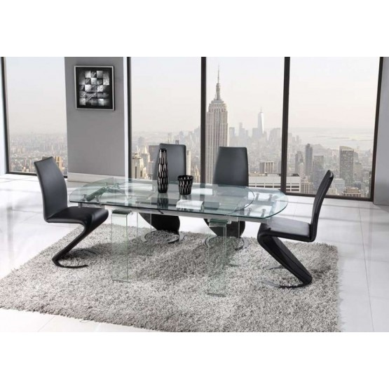 D2160 5-Piece Dining Room Set, Composition 1, Black photo