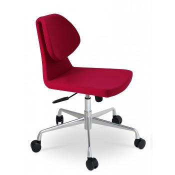 Gakko Office Chair, Base A3, Pink Wool by SohoConcept Furniture