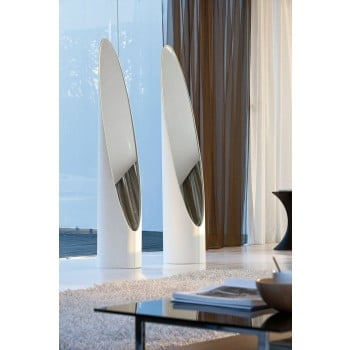 Kolonaky Mirror, White Eco-Leather