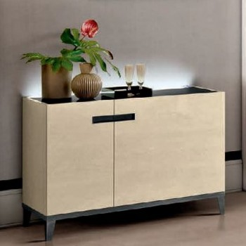 Ambra 2-Door Buffet w/Wooden Door