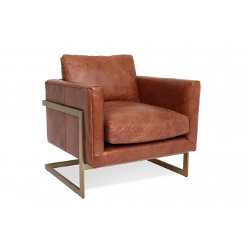 London Leather Lounge Chair