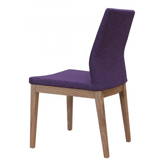 Pasha Wood Dining Chair, Original American Walnut, Deep Maroon Camira Wool photo
