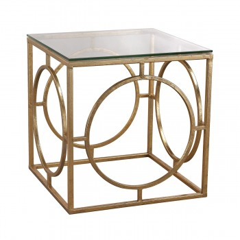 Leafed Ring And Glass Table