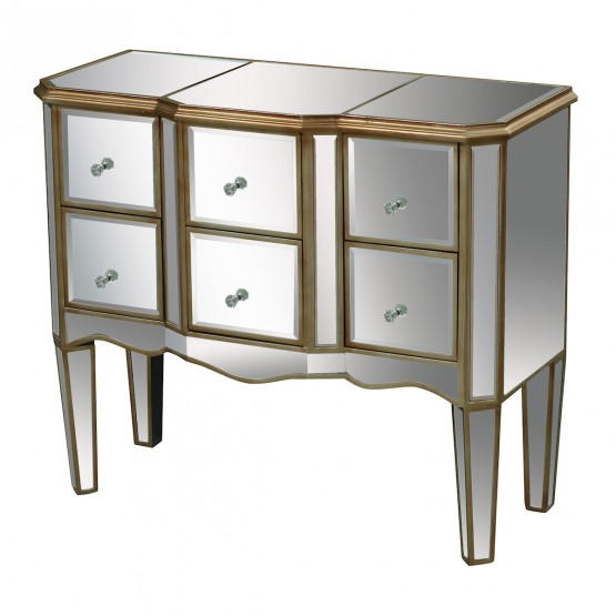 Antwerp Chest In Clear Mirror And Antique Gold photo
