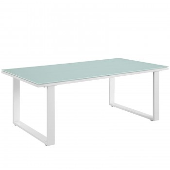 Fortuna Outdoor Patio Coffee Table, White by Modway