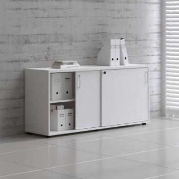 Sliding Doors Storage Unit A2P16, White