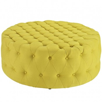 Amour Fabric Ottoman, Sunny by Modway