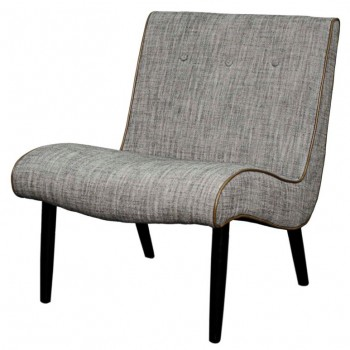 Alexis Fabric Chair, Black Legs, Wolf by NPD (New Pacific Direct)