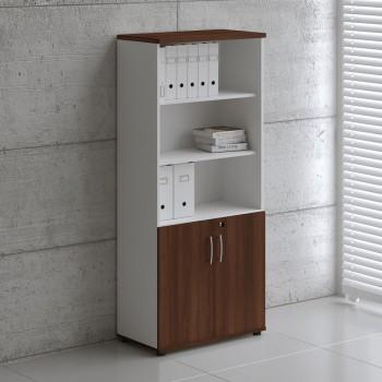 Basic K5404 2-Door Storage, White + Lowland Nut