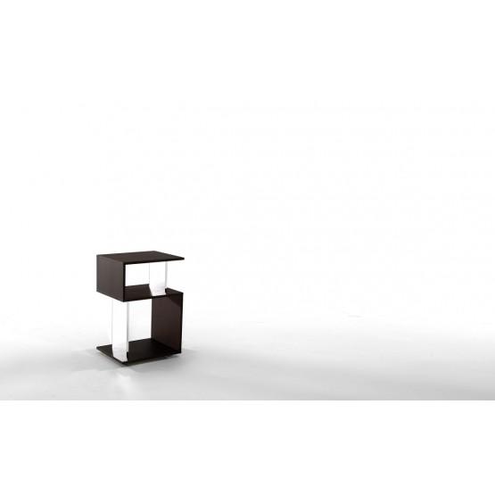 Airone Side Table, Heat-Treated Dark Oak photo