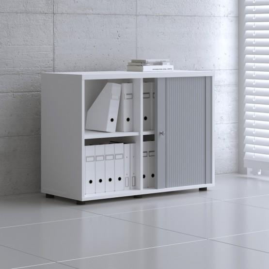 Tambour Pro Storage Unit IA2L05, White + Aluminum Front photo