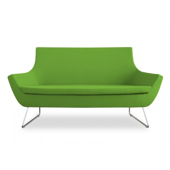 Rebecca Wire Sled Two Seater, Pistachio Camira Wool by SohoConcept Furniture