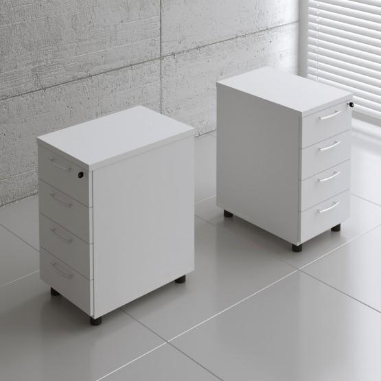 Basic KKT64 Fixed Pedestal w/4 Drawers, White photo