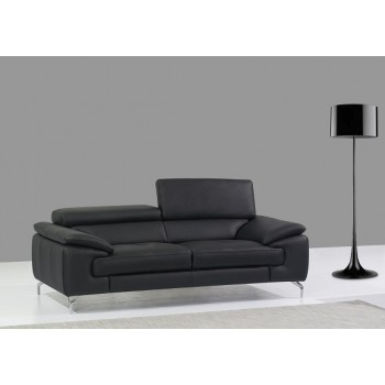 A973 Italian Leather Sofa, Black by J&M Furniture