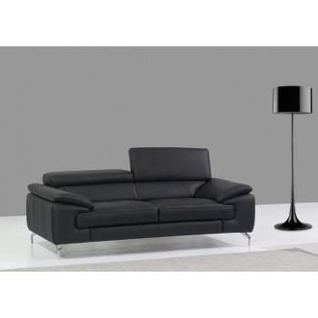 A973 Italian Leather Sofa, Black by J&M Furniture