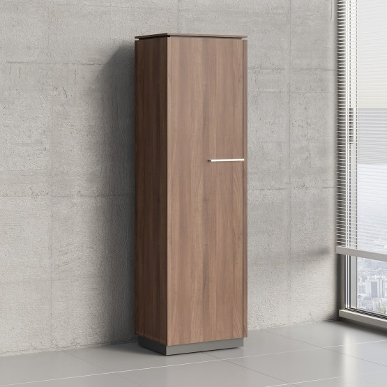 Status 1 Left Door Storage Cabinet X56, Lowland Nut photo