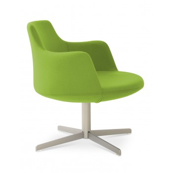 Dervish Lounge 4 Star Armchair, Pistachio Camira Wool by SohoConcept Furniture