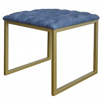 Avril KD End Table, Denim Slate Blue