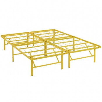 Horizon Queen Stainless Steel Bed Frame, Yellow by Modway