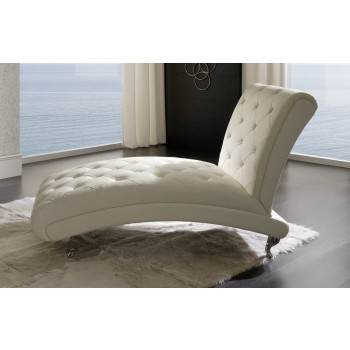 Nelly B6 Chaise Lounge, White