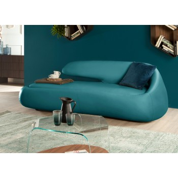 Duny Sofa, Turquoise Blue Eco-Leather