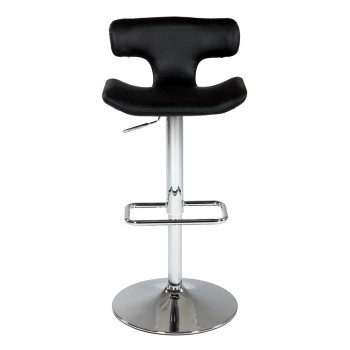 0623 Pneumatic Gas Lift Swivel Stool, Black by Chintaly Imports