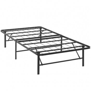 Horizon Twin Stainless Steel Bed Frame, Brown by Modway