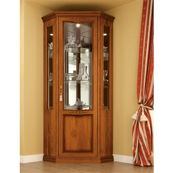 Nostalgia 1-Door Right Corner Column, Walnut