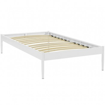 Elsie Twin Bed Frame, White by Modway