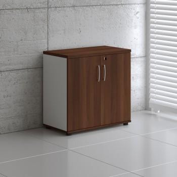 Basic K2104 2-Door Storage, White + Lowland Nut