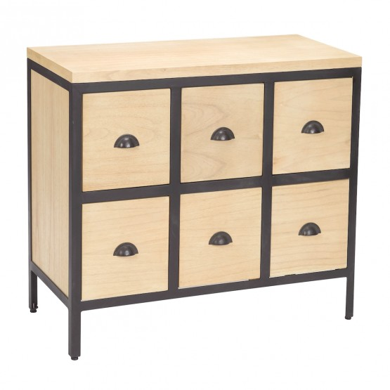 6 Drawer Chest With Iron Frame photo