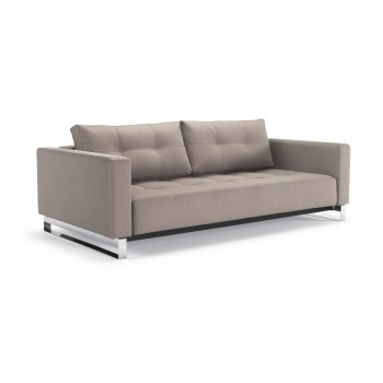 Cassius Deluxe Excess Queen Size Sofa Bed, 631 Classic Medium Grey Fabric